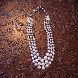 Vintage Triple Strand Cultured Pearls